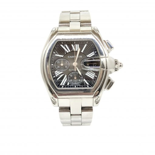 Cartier Roadster Chrono Watch, preowned.W62020X6