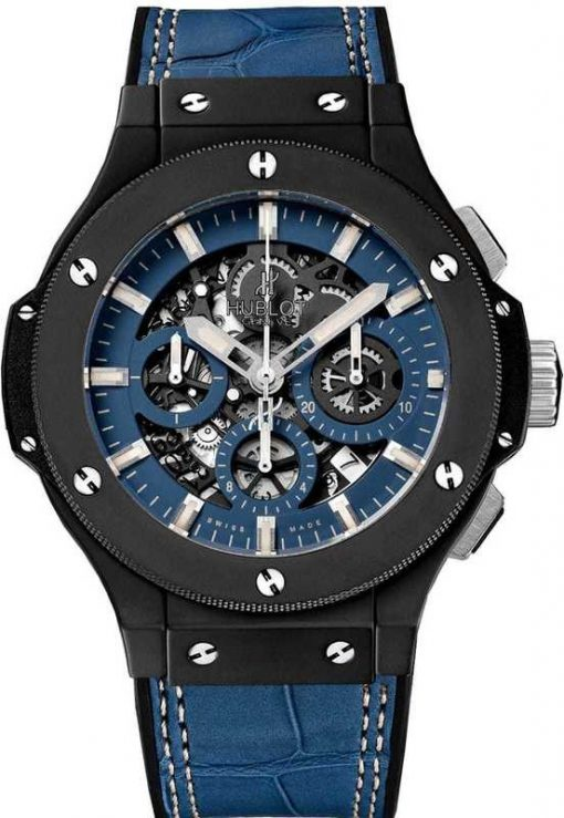 Hublot  Big Bang Aero Bang Steel Ceramic Leather Men`s Watch, 311.CI.5190.GR