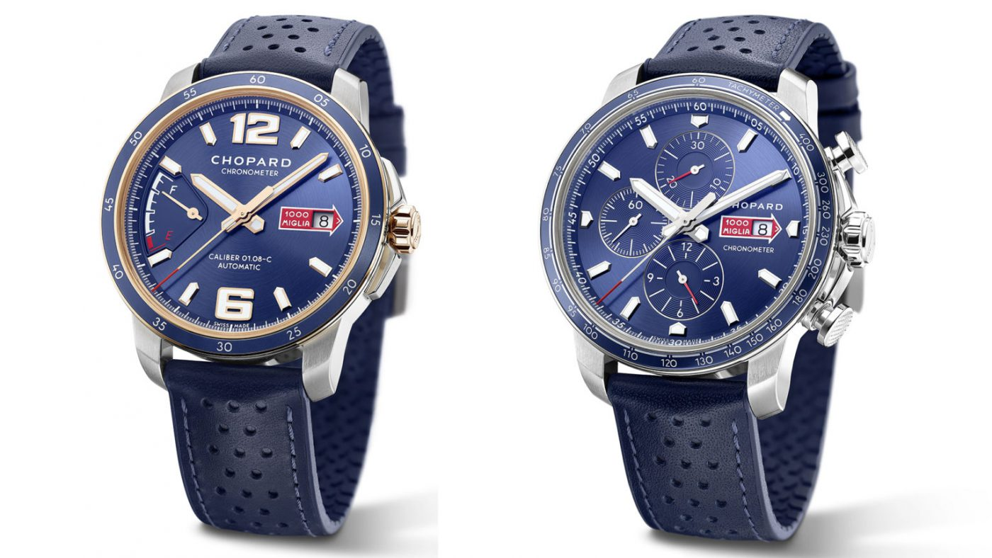Limited Edition Chopard Mille Miglia GTS Azzurro Power Control And Mille Miglia GTS Azzurro Chrono Watches