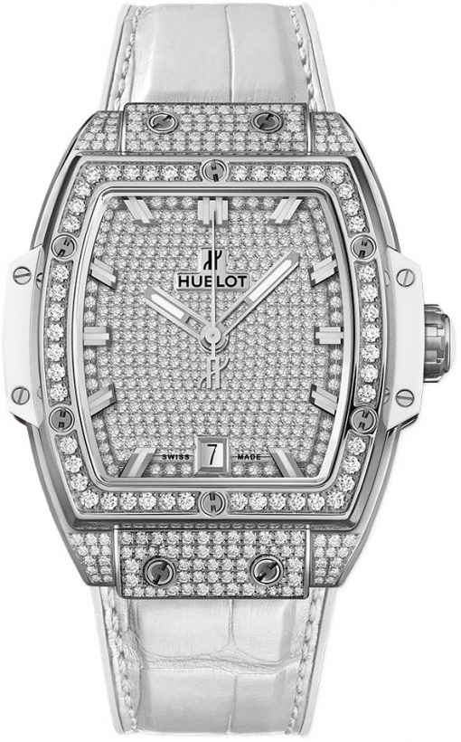 Hublot Spirit Of Big Bang Titanium & Diamonds Men's Watch, 665.NE.9010.LR.1604