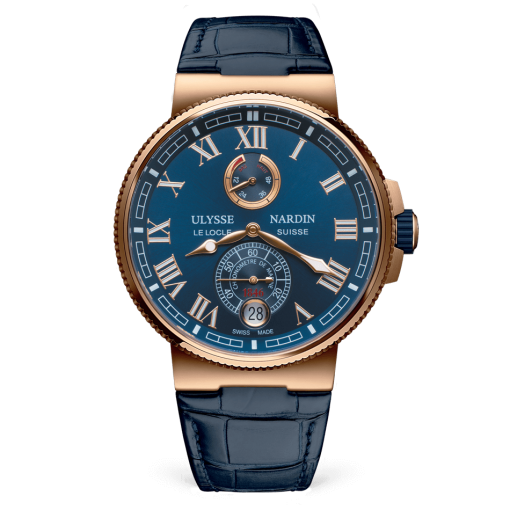 Ulysse Nardin Marine Chronometer 18K Rose Gold Men's Watch, 1186-126/43