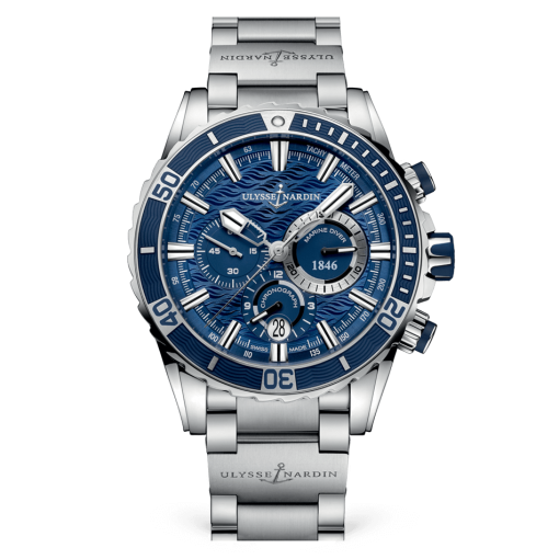 Ulysse Nardin Diver Chronograph Stainless Steel Men's Watch, 1503-151-7M/93
