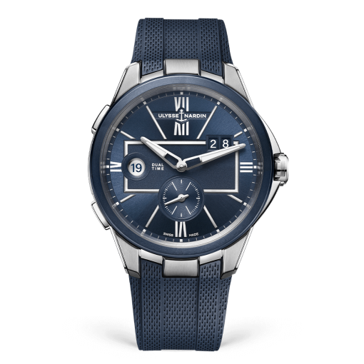 Ulysse Nardin Executive Dual Time Stainless Steel Watch, 243-20-3/43
