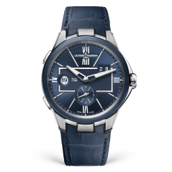 Ulysse Nardin Executive Dual Time Stainless Steel Watch 243-20/43