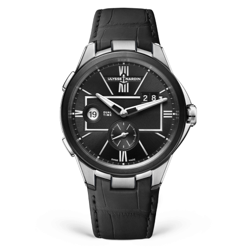 Ulysse Nardin Executive Dual Time Stainless Steel Watch, 243-20/42