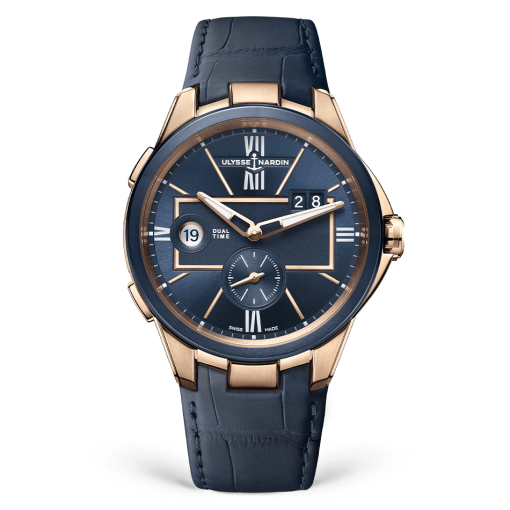 Ulysse Nardin Executive Dual Time 18K Rose Gold Watch, 242-20/43