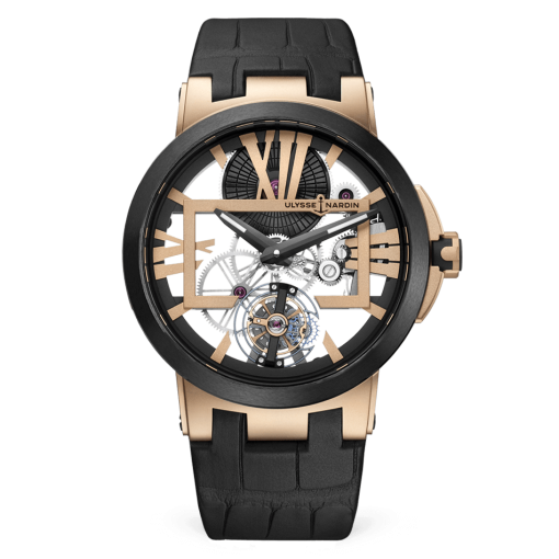 Ulysse Nardin Executive Skeleton Tourbillon 18K Rose Gold Men's Watch, 1712-139