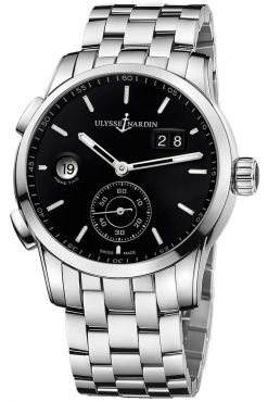 Ulysse Nardin Dual Time Manufacture Stainless Steel Men's Watch preowned.3343-126-7/92
