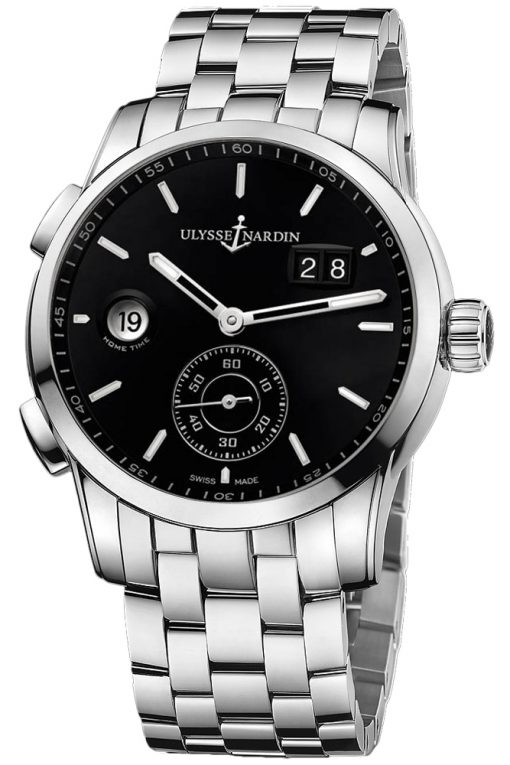 Ulysse Nardin Dual Time Manufacture Stainless Steel Men's Watch, preowned.3343-126-7/92