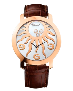 Chopard Happy Diamonds 18K Rose Gold & Diamonds Ladies Watch preowned.207469-5002