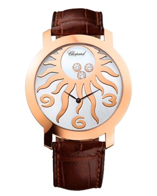 Chopard Happy Diamonds 18K Rose Gold & Diamonds Ladies Watch, preowned.207469-5002
