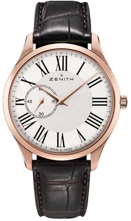 Zenith Heritage Ultra Thin Small Seconds 18K Rose Gold Men's Watch, Preowned.18.2010.681/11.C498
