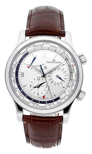 Jaeger LeCoultre Master World Geographic Stainless Steel Men's Watch, preowned.Q1528420