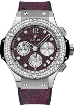 Hublot Big Bang Glossy Jeans Stainless Steel & Diamonds Unisex Watch preowned.341.SX.2790.NR.1104.JEANS14