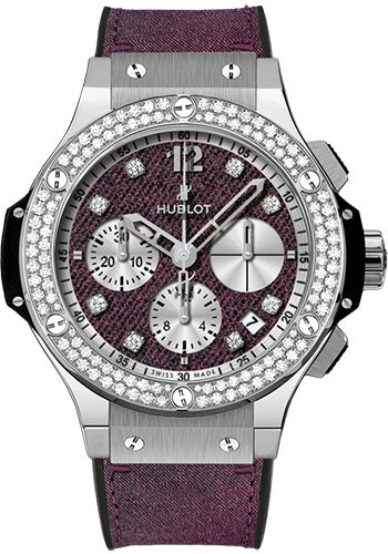 Hublot Big Bang Glossy Jeans Stainless Steel & Diamonds Unisex Watch, preowned.341.SX.2790.NR.1104.JEANS14