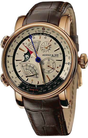 Arnold & Son Instrument Collection True North Perpetual 18K Rose Gold Men's Watch, Preowned.1QPAR.S07A.C20BD