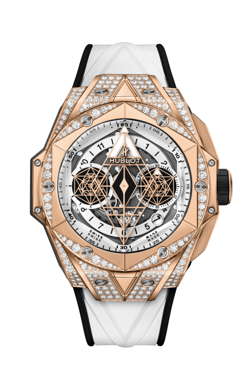 Hublot Big Bang Sang Bleu II 18K King Gold White Pavé Men's Watch, 418.OX.2001.RX.1604.MXM20