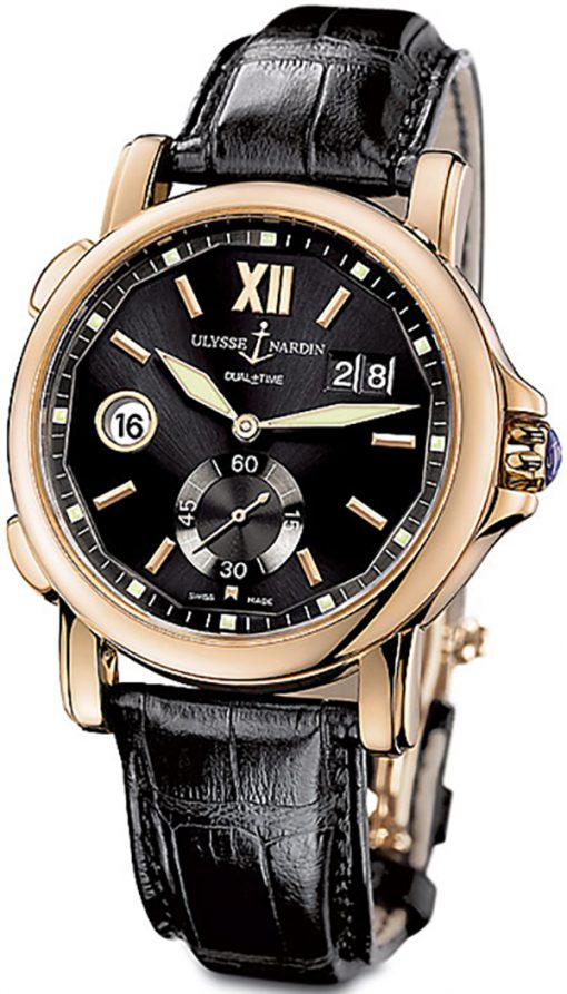 Ulysse Nardin Dual Time Big Date 18k Rose Gold Men's Watch, preowned.246-55/32