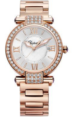 Chopard Imperiale 18K Rose Gold & Diamonds & Amethysts Ladies Watch preowned.384221-5004