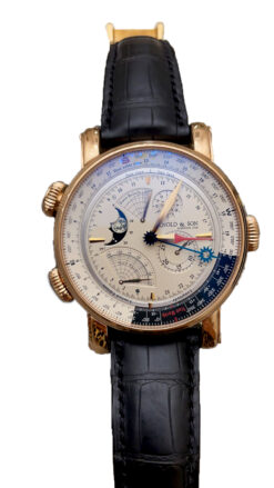 Arnold & Son Instrument Collection True North Perpetual 18K Rose Gold Men's Watch Preowned.1QPAR.S07A.C20BD