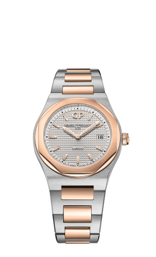 Girard Perregaux Laureato Classic 34mm Mens Watch, 80189-56-132-56A