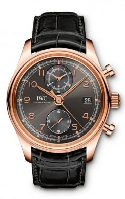 IWC Portuguese Chronograph Classic 18K Rose Gold Men's Watch preowned.IW390405