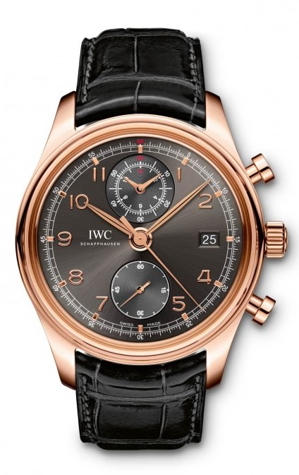 IWC Portuguese Chronograph Classic 18K Rose Gold Men's Watch, preowned.IW390405