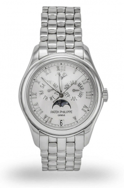 Patek Philippe Annual Calendar Moonphase 18K White Gold Men's Watch preowned.5036-5036/1g-017