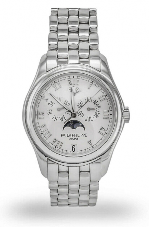 Patek Philippe Annual Calendar Moonphase 18K White Gold Men's Watch, preowned.5036-5036/1g-017