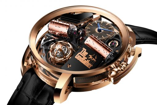 Jacob & Co Godfather Sapphire and 18K Rose Gold Men's Watch, OP110.40.AG.AB.A