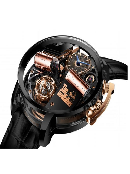Jacob & Co Godfather Titanium, Sapphire and 18K Rose Gold Men's Watch, OP110.21.AG.AB.A