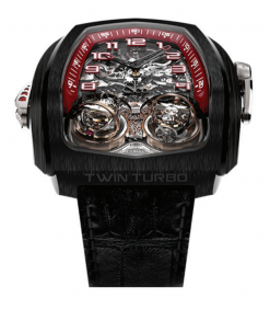 Jacob & Co Twin Triple Axis Tourbillon Minute Repeter Cathedral Gong Black DLC… TT100.21.NS.NK.C