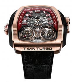 Jacob & Co Twin Triple Axis Tourbillon Minute Repeter Cathedral Gong 18K Rose… TT100.40.NS.NK.A
