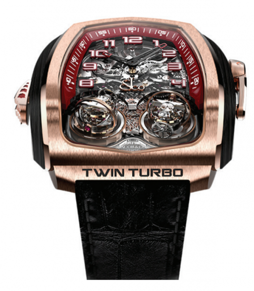 Jacob & Co Twin Triple Axis Tourbillon Minute Repeter Cathedral Gong  18K Rose Gold Men's Watch, TT100.40.NS.NK.A