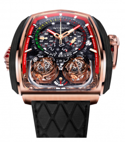 Jacob & Co Twin Turbo Furious 18K Rose Gold 5N and Carbon Fiber… TT200.40.NS.NK.A
