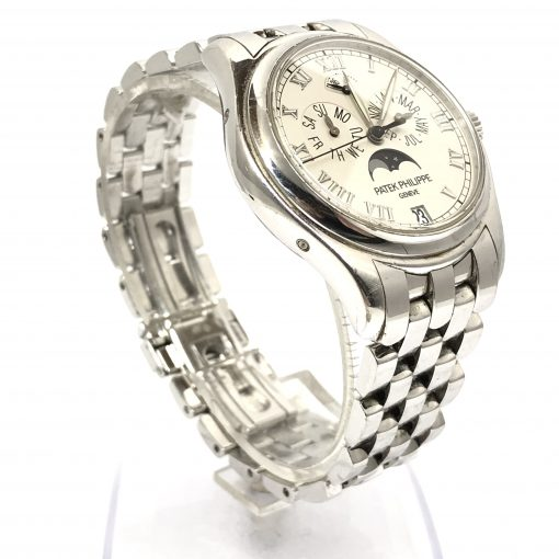 Patek Philippe Annual Calendar Moonphase 18K White Gold Men's Watch, Preowned-5036/1G-017 3