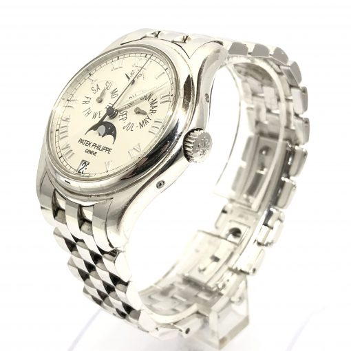 Patek Philippe Annual Calendar Moonphase 18K White Gold Men's Watch, Preowned-5036/1G-017 4