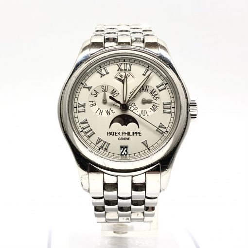Patek Philippe Annual Calendar Moonphase 18K White Gold Men's Watch, Preowned-5036/1G-017 2