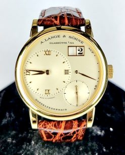 A. Lange and Sohne Lange 1 18K Yellow Gold Leather Unisex Watch Preowned_111.021