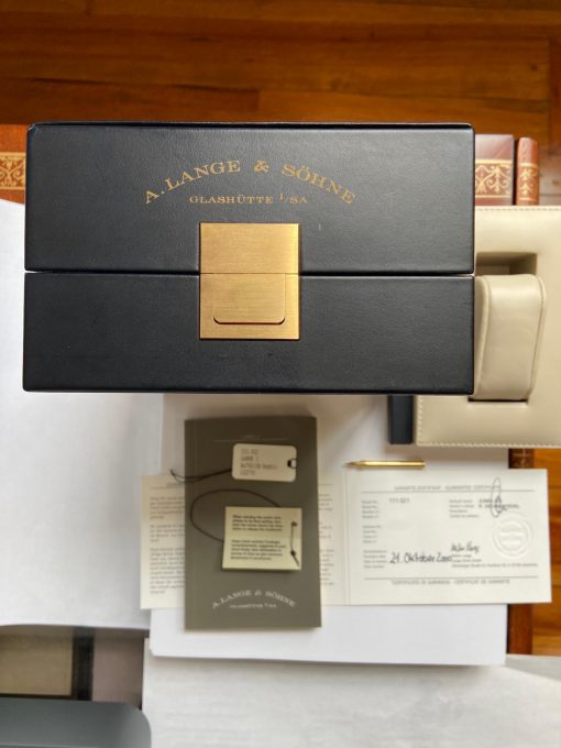 A. Lange and Sohne Lange 1 18K Yellow Gold Leather Unisex Watch, Preowned_111.021 3