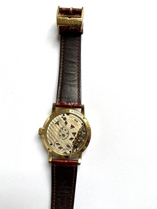 A. Lange and Sohne Lange 1 18K Yellow Gold Leather Unisex Watch, Preowned_111.021 4