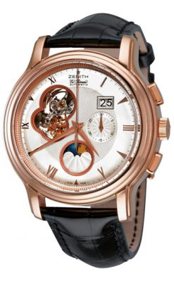 Zenith Chronomaster Open Grande Date Moonphase 18K Rose Gold Men's Watch Preowned.18.1260.4047-01.C505