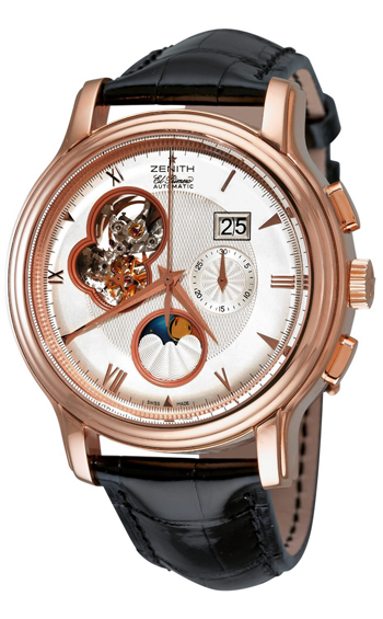 Zenith Chronomaster Open Grande Date Moonphase 18K Rose Gold Men's Watch, Preowned.18.1260.4047-01.C505