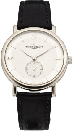 Vacheron Constantin Patrimony Small Seconds 18K White Gold Unisex Watch Preowned. 81160/000G-9062