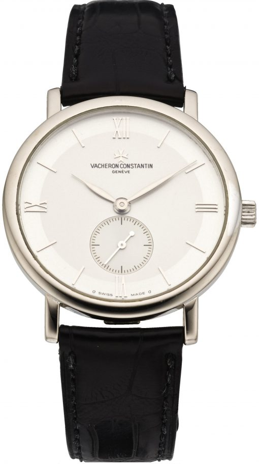 Vacheron Constantin Patrimony Small Seconds 18K White Gold Unisex Watch, Preowned. 81160/000G-9062