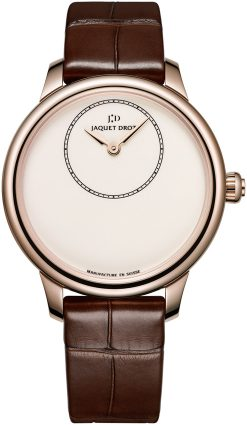 Jaquet Droz Petite Heure Minute 18K Rose Gold Ladies Watch preowned.J005003200