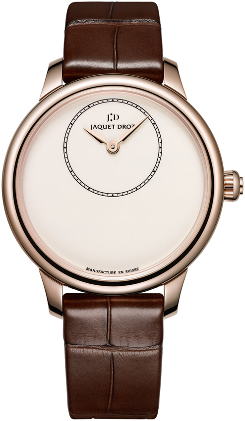 Jaquet Droz Petite Heure Minute 18K Rose Gold Ladies Watch, preowned.J005003200