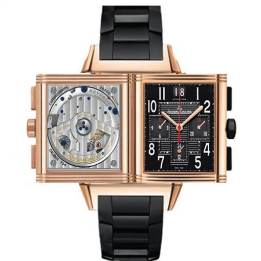 Jaeger LeCoultre Reverso Squadra GMT Chrono 18K Rose Gold Men's Watch, preowned.Q7012671 2