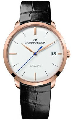 Girard Perregaux 1966 Automatic 18K Rose Gold Men's Watch preowned.49527-52-131-bk6a