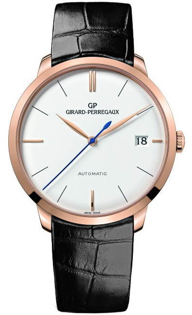 Girard Perregaux 1966 Automatic 18K Rose Gold Men's Watch, preowned.49527-52-131-bk6a